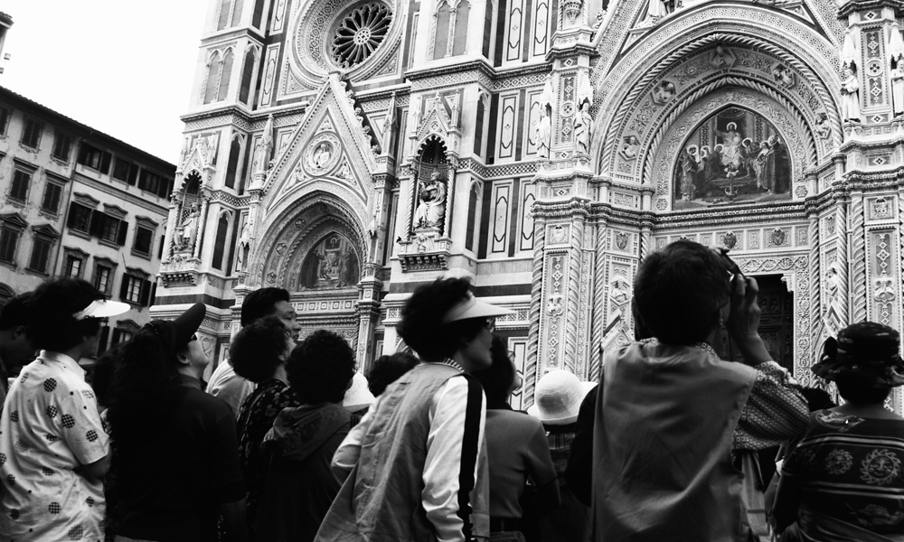 Japanese Tourists Visiting The Duomo Di Firenze, 1996